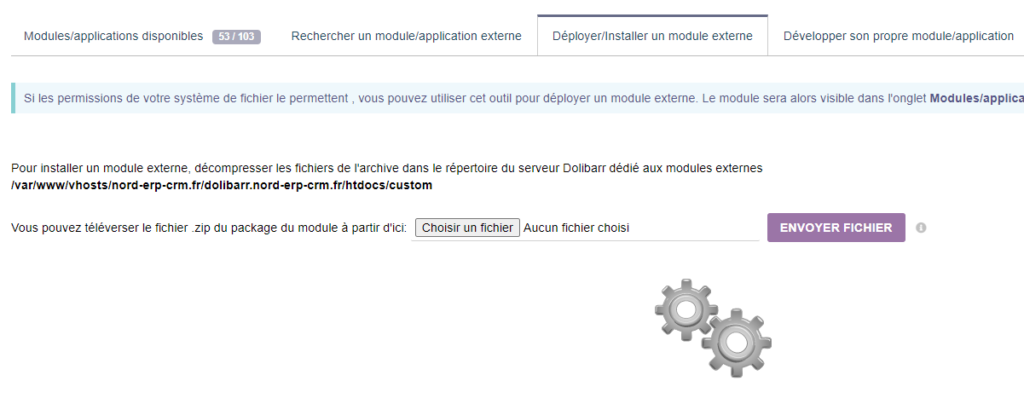 Installer module Dolibarr